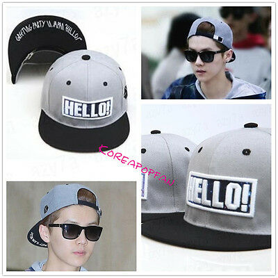 EXO luhan LU HAN exologo sewn Snapback Cap Hat KPOP NEW exodus from planet