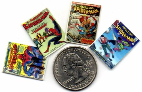 Dollshouse  1:12 scale 4 Miniature OPENING  /'Spider-Man/'  Comics