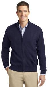 Port-Authority-Men-039-s-Long-Sleeve-Full-Zip-Mock-Neck-Winter-Sweater-SW303