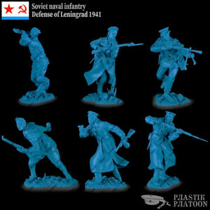 Plastic-Platoon-Toy-Soldier-WWII-Soviet-Naval-Infantry-Defense-of-Leningrad-1-32