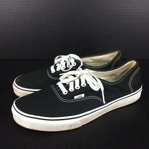 VANS Authentic Era Classic Mens Canvas Shoes Size 11 US 10 UK Black ... 17e9ed7ca