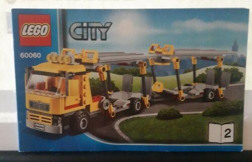 Lego City 60060 Car Transporter Instruction books only 1+2+3 No Bricks c12