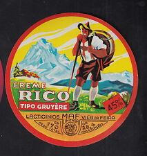 Ancienne étiquettes Fromage  Espagne  BN10244 Gruyère Homme