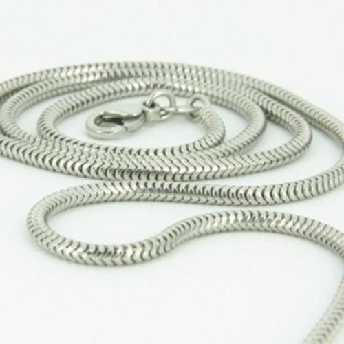 2mm solid sterling silver 925 Italian SNAKE link chain necklace bracelet anklet