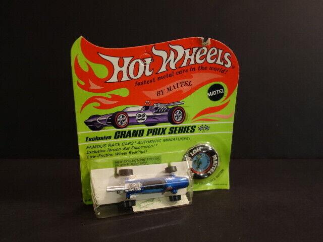 Tous les Original Hot wheels rougeline BRABHAM REPCO F1 bleu Comme neuf CARD 1969