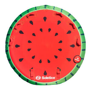 Swimline Inflatable 2 Rider Watermelon Island Lake Water Towable Tube Float Raft