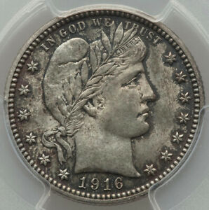 1916-D-25c-Final-Year-of-Barber-Type-Silver-Quarter-Dollar-PCGS-MS64