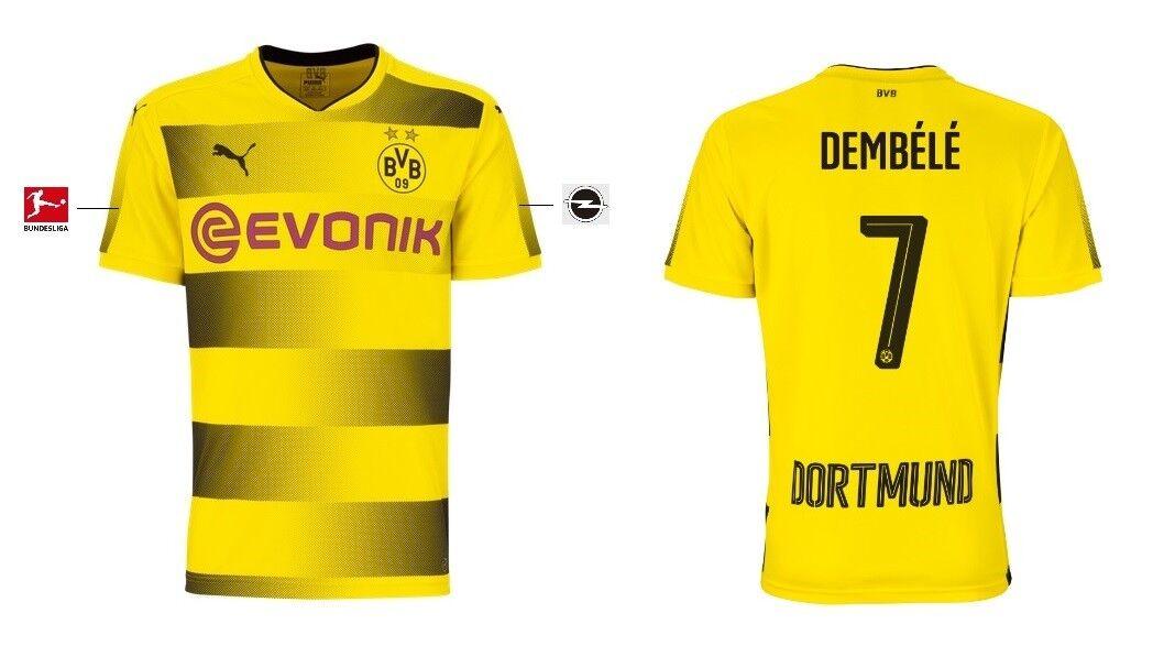 Trikot Puma Borussia Dortmund 2017-2018 Home - Dembele 7  BVB Fussball