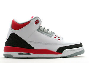 25d4dba1103 Nike Air Jordan 3 III Fire Red Cement Retro Youth Size 3.5Y GS ...