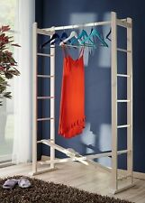 Buche Garderobe faltbar Buche Massivholz Kleiderständer Kleiderstange klappbar