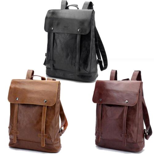 Vintage Men/'s Leather Backpack Messenger Bags Satchel Laptop travel Rucksack