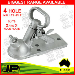 TRAILER-HITCH-QUICK-RELEASE-COUPLING-2-HOLE-50MM-2000KG-RATED-BOAT-CARAVAN