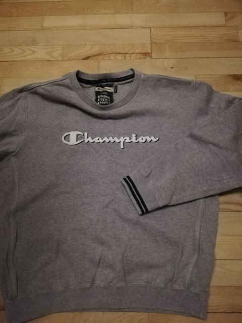 Sweatshirt, CHAMPION, str. XL,  GRÅ LYS,  100% BOMULD,…