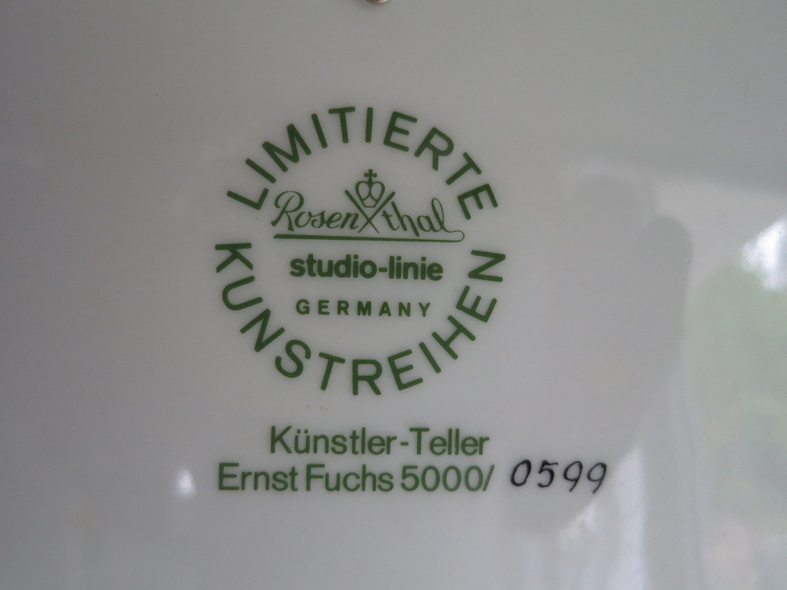 Rosanthal KÜNSTLERTELLER 17 Ernst Ernst Ernst Fuchs Kunst ist die Versenkung in die  OVP   Hohe Sicherheit  6da623