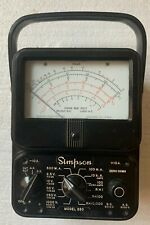 Early Vintage Simpson Model 260 Multimeter Usa As Is