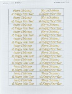 Merry Christmas,30 pieces 1 sheet Gold color Monotype Corsiva label Stickers