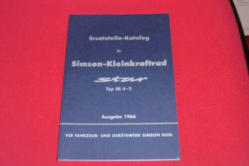 sr4-2 catalogo parti di ricambio elenco-SIMSON Star Output: 1966 Parti di ricambio