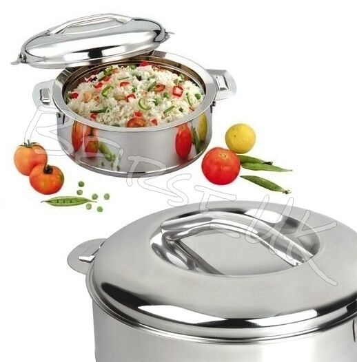 Best Stainless Steel Insulated Hot Pot Food Serving Dish Lided Casserole Hotpot