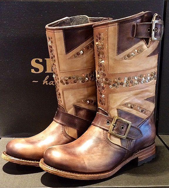 SENDRB Stiefel BIKER Boots Leder 11121-26948   HBNDMBDE in SPBIN