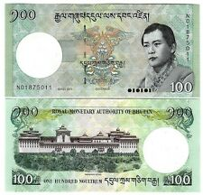 BHUTAN 100 NGULTRUM 2011 UNC P 32 b