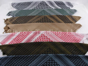 Shemagh-100-Cotton-Scarf-Head-Wrap-Woven-Bandana-keffiyeh-201-Condor
