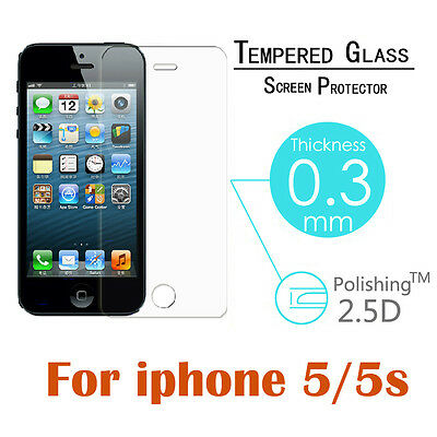 For Apple iPhone 5 5S Explosion Proof Premium Tempered Glass Screen Protector