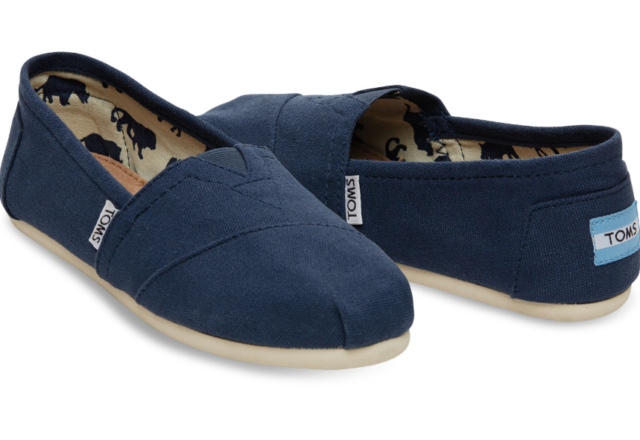 Tom's Classic Navy Blue Canvas Shoes