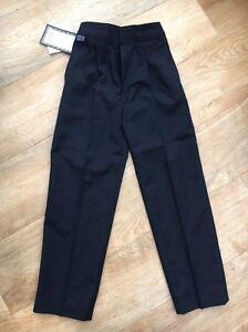 Zeco Navy Size 24 Age 4-5 BNWT Long School trousers <T6905
