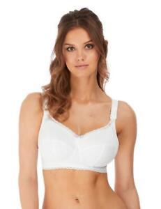 Freya Rosie Soft Cup Nursing Bra 1212 Womens Non-Wired Breast Feeding Bras White