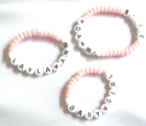 Items similar to Little Girl Jewelry, Baby Bracelets ...   Personalized Baby Jewelry For Girls