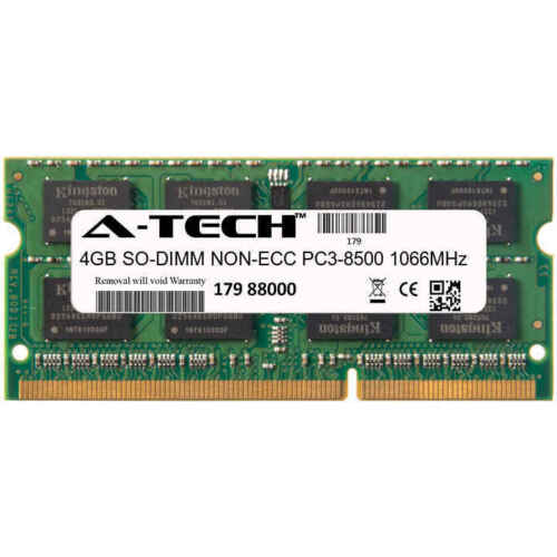 4GB DDR3 SODIMM Toshiba Satellite L675D-S7042 L675D-S7046 PC3-8500 RAM Memory 4G