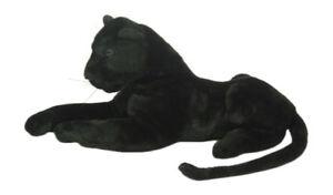 PLUSCHTIER-PLUSCH-PANTHER-liegend-lebensecht-90-cm-NEU-Plueschpanther