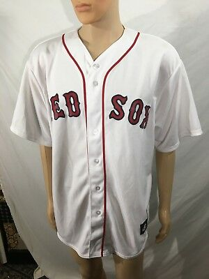 Weiß & Rot Größe Xl 2019 Neuestes Design Boston Red Sox Redsox Majestic Trikot 14 Buswell