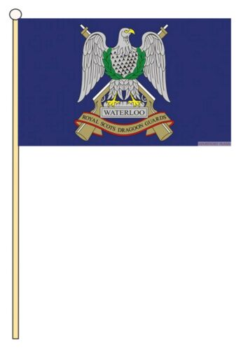 "ROYAL SCOTS DRAGOON GUARDS BRITISH MILITARY HAND WAVING FLAG 9/""X6/"" 22.5cm x 15cm"