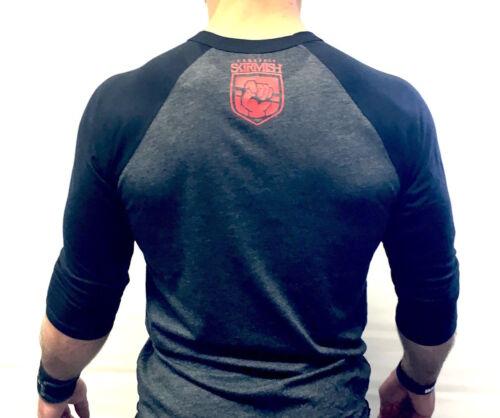 CrossFit Skirmish 3//4 Unisex Training Top T-shirt Black /& Dark Grey WOD Fitness