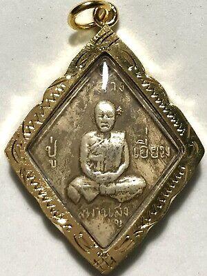 PHRA LP DERM RARE OLD THAI BUDDHA AMULET PENDANT MAGIC ANCIENT IDOL#3