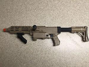 Custom-Modified-Nerf-Recon-M4-Nerf-Gun-Mod-Orange-Mod-Works-Massacre-Kit