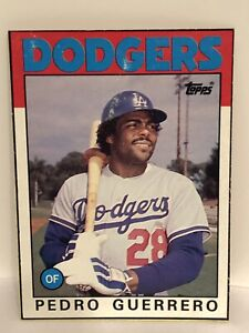 Details About 1986 Topps Pedro Guerrero Baseball Card La Dodgers Wax Box Card G Good Cond