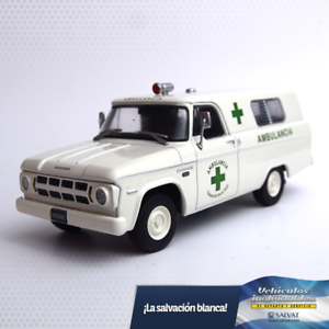 Dodge-D-100-1967-Amblulance-1-43-Diecast-Autos-de-Servicios-Argentina-w-mag