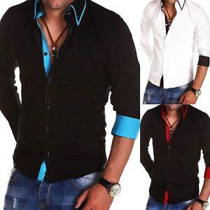 New-Stylish-Mens-Slim-Fit-Casual-Shirt-Button-Down-100-Cotton-M-L-XL-XXL-PS10