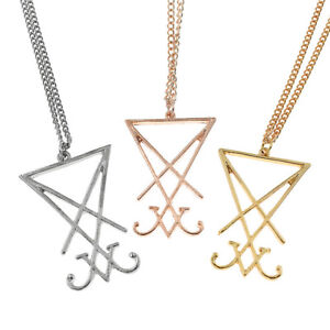 Details about Simple Sigil of Lucifer Satan Pendant Necklace Chain Handmade  Design for Men