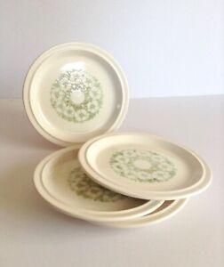 Hornsea-Pottery-Fleur-Dessert-Side-Plates-x4-Vintage-Retro-Tableware-Patterned