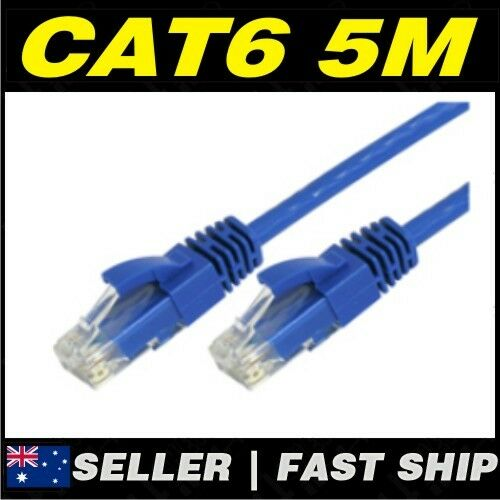 1 x 5m Blue Cat 6 Cat6 1000Mbps RJ45 Ethernet Network LAN Patch Cable