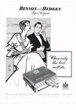PUBLICITE ADVERTISING  1958   BENSON & HEDGES  super Virginia cigarettes