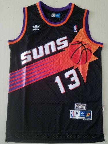 S-XXL NEW Phoenix Suns #13 Steve Nash Black Basketball Jersey Size