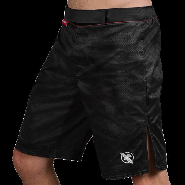 Hayabusa Hexagon MMA Shorts BJJ Muay Thai Fight Mens Black Grey Kickboxing