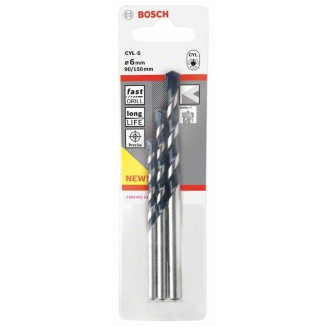 Betonbohrer Set Blue Granite 5 Bosch 3tlg 6 8 mm Neu und OVP!!!