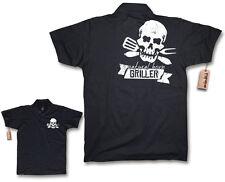 NATURAL BORN GRILLER Poloshirt S M L XL XXL grillen Smoker SOMMER Shirt Gr