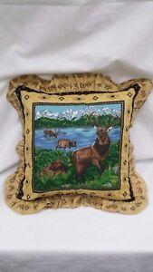 Elk-in-the-Grand-Tetons-16-034-Throw-Pillow