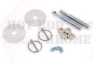 Hood-Pin-Kit-Chrome-Steel-Universal-Chevy-Ford-Mopar-Flip-Over-Style